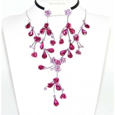Conjunto pendientes y collar cristales Swarovski 41478