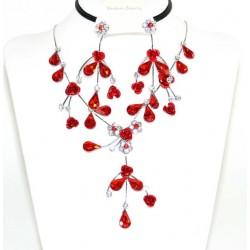 Conjunto pendientes y collar cristalesMod 41473