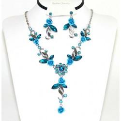 Conjunto pendientes y collar cristalesMod 41467