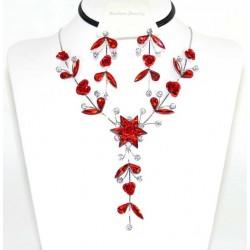 Conjunto pendientes y collar cristalesMod 41465