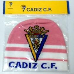 Gorro lana adulto Cádiz Club de Fútbol Rosa