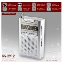 Radio transistor Sami RS2912 AM/FM tamaño bolsilloo  Tamaño: 10x5,5x2,5 cm