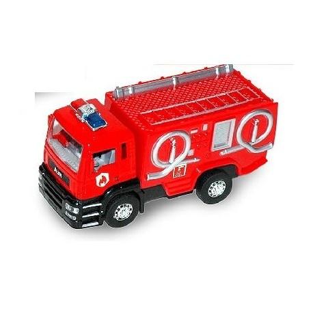 Camión de bomberos con luz y sonido 13cm 1:32