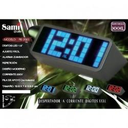 Despertador Sami pantalla XXL LED blanco RS-2026