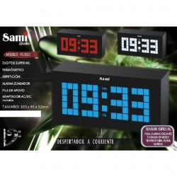 Despertador Sami pantalla XXL LED blanco RS-2023