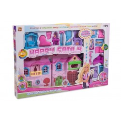 Casita de juguete plástico con muebles luz y sonido
