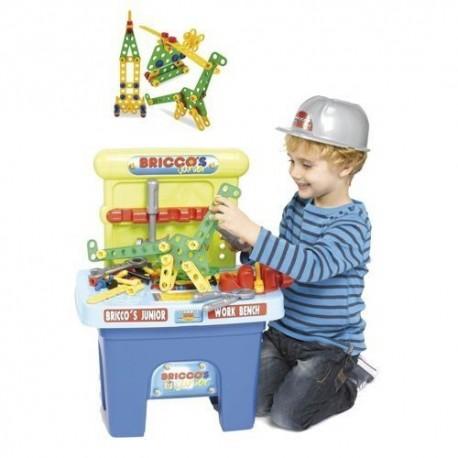 Banco de trabajo Briccos con herramientas y casco