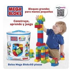 MEGA BLOCKS BOLSA 60 PIEZAS CLÁSICA +12MESES
