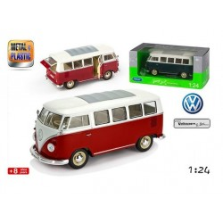 Volkswagen T1 BUS Van Samba 1:24 Welly Verde
