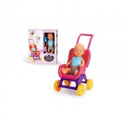 Muñeco Bebé 38cm y su carrito de Falca