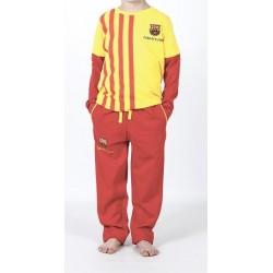 Pijama niño del Fútbol Club Barcelona invierno Senyera