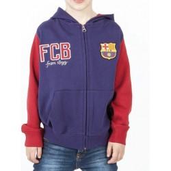Sudadera niño Fútbol Club Barcelona con gorro