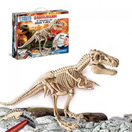 Juego Ciencia Arqueojugando esqueleto del gran T-REX