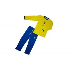 Pijama Cádiz Club de Fútbol niño invierno
