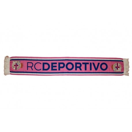 Bufanda Deportivo de La Coruña rosa alta definición