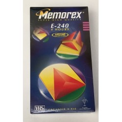 Cinta video VHS Memorex 4 horas 240 minutos