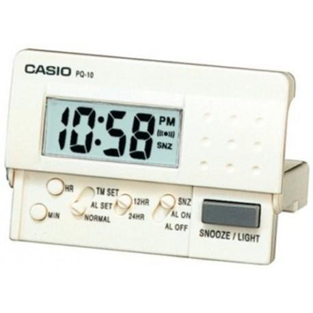 Despertador Casio digital PQ-10D blanco