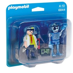 Playmobil 6844 Duo Pack Científico y Robot
