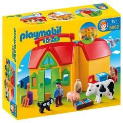 Playmobil 6962 1.2.3 Granja Maletín