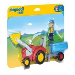 Playmobil 6964 1.2.3 Tractor con Remolque