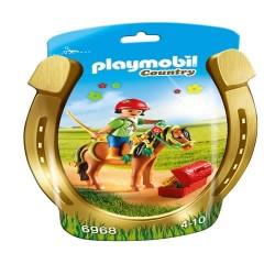 Playmobil 6968 Jinete con Poni Flor