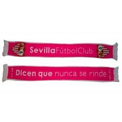 Bufanda doble Sevilla Fútbol Club rosa nunca se rinde