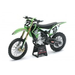 Moto Kawasaki KX 450F Chad Reed Two Two Motorsports New Ray 1:6