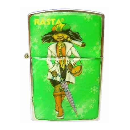 Mechero gasolina Rasta Verde