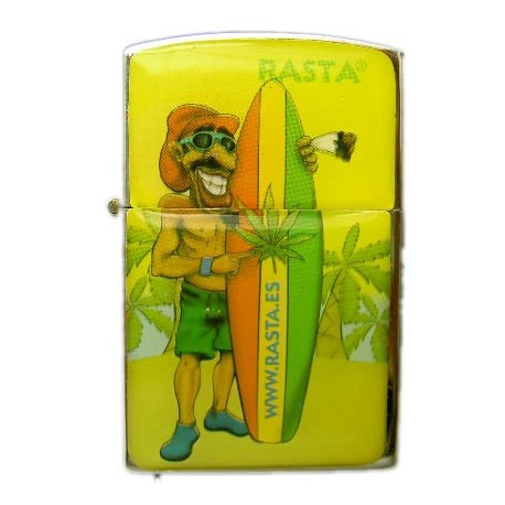 Mechero gasolina Rasta Surfista