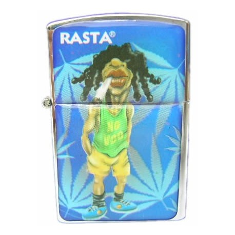 Mechero gasolina Rasta Azul