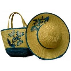 Conjunto de bolso y sombrero para niña