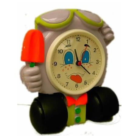 Reloj niño decoración con ruedas
