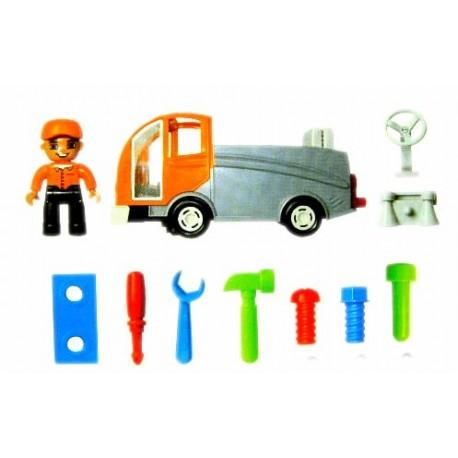Camión salva obstáculos con herramientas