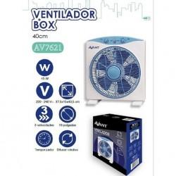 Ventilador cuadrado difusor rotativo 37,5 x 15 x 41,5 cm 45W