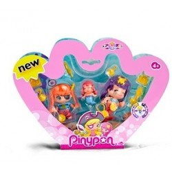 Pinypon Pack 3 figuras Piratas y Sirenas