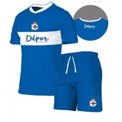 Pijama Real Club Deportivo de La Coruña adulto verano