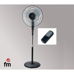 Ventilador FM de pie redonda con Mando a distancia