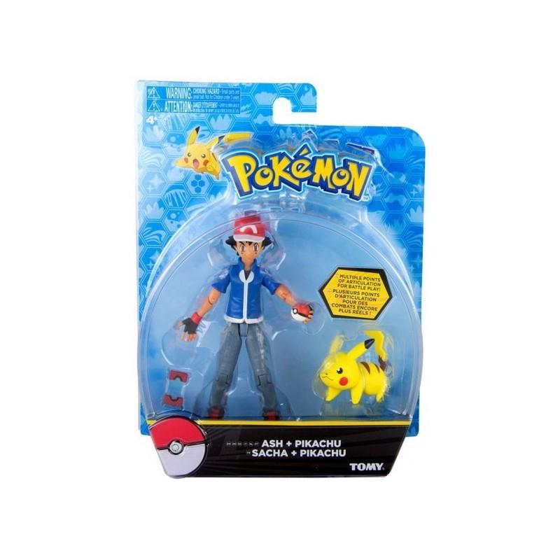 Pokemon Figura Ash Y Pikachu Comprar Tienda De Juguetes Y