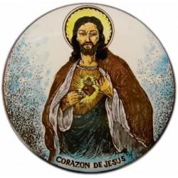 Plato cobalto Corazón de Jesús