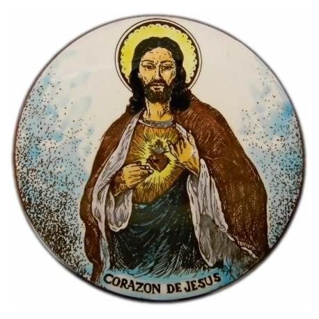 Plato cerámica Corazón de Jesús