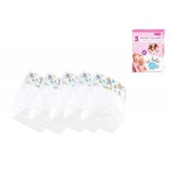Caja con 5 pañales para muñecos juguete