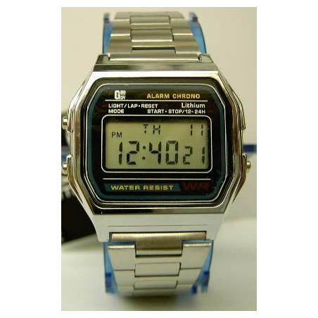 Reloj retro Plateado