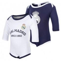 Body Real Madrid para bebé manga larga