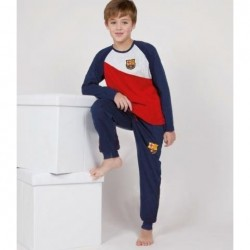 Pijama niño del Fútbol Club Barcelona manga larga