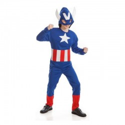 Disfraz super heroes niño capitán americano tallas 3 a 10 años