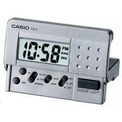 Despertador Casio digital PQ-10D plateado