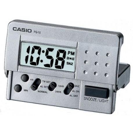 Despertador Casio digital PQ-10D plateado