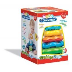 Clementoni anillas apilables juguete para bebés 6-36 meses
