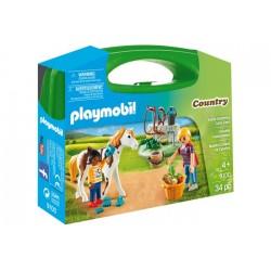Playmobil 9100 Maletín Grande Cuidado de Caballos