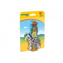 Playmobil 9257 1.2.3 Hombre con Cebra